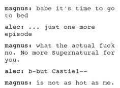 Ehhe TMI & Supernatural crossover