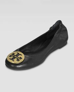 Reva Leather Ballet Flat by Tory Burch at Neiman Marcus.