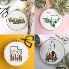 your state embroidery art