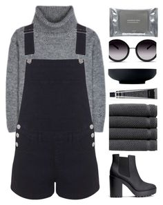 """""""Throne"""" by hevsyblue2 ❤ liked on Polyvore featuring Yves Saint Laurent, Miss Selfridge, H&M, Linum Home Textiles, GlassesUSA, Grown Alchemist, Dermalogica, Royal Doulton, denim and polyvoreeditorial"""
