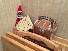 Elf on the Shelf with my Cricut Explore: Pirate Elf - Buddy The Elf Christmas Elf, Christmas Projects, Holiday Crafts, Holiday Decor, Christmas Stuff, Buddy The Elf, Cricut Explore, Elf On The Shelf, Shelf Ideas