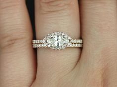 East-West Engagement Rings: Horizontal Engagement Rings, East-West Center Stones | Glamour