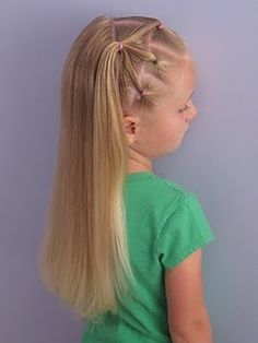 7 Little Ponies #Hair Style #hairstyle #girl hairstyle| http://hair-style-709.blogspot.com