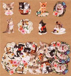 cute cat sticker sack from Japan--- so many stickerrrrrrsssss!!!!
