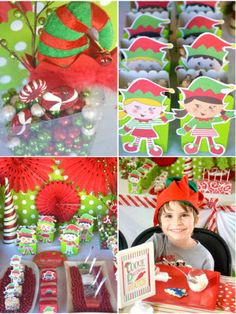 Elf Cookie Decorating Christmas Holiday Party Printables
