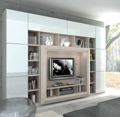 [New] The 10 Best Interior Designs (in the World) Living Room Bookcase, Living Room Built Ins, Living Room Wall Units, Home Living Room, Small Apartment Interior, Apartment Design, Home Interior, Best Interior Design, Apartment Styles