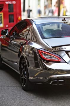 Mercedes CLS 63 AMG....... Usually I hate this, but the car itself might blind me from my pure hatred of chroming a car