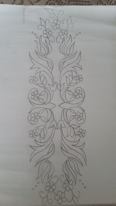 Trendy Ideas Embroidery Designs Abstract Coloring Pages Border Embroidery Designs, Embroidery Patterns Free, Beaded Embroidery, Embroidery On Clothes, Embroidery Fashion, Broderie Simple, Abstract Coloring Pages, Wreath Drawing, Floral Drawing
