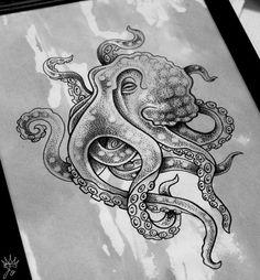 Осьминог | Татуировки, эскизы и тату-мастера России, Украины, Беларуси и из всего бывшего СССР