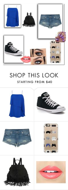 """Roupa escolar Juh"" by julinha-20042004 ❤ liked on Polyvore featuring TIBI, Converse, True Religion, Casetify and Fiebiger"