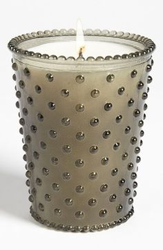 Simpatico Hobnail Glass Candle $29 | Color= Meringue: Blend of Sugar & Cream With Freshly Shaved Coconut |  Nordstrom | 4 Different Scents; Meringue, Meyer Lemon, Poppy, or Spanish Lime