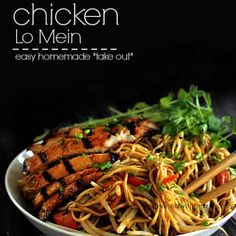 """Chicken Lo Mein (Easy homemade """"take out""""!)"""