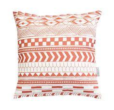 Alma Tatuada - Tribal Coral Coral, Throw Pillows, Quilts, Blanket, Blankets, Cushions, Quilt Sets, Kilts, Decor Pillows