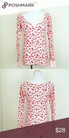 FP Pink Printed Themal We the Free FP Pink Printed Themal. EUC.   Bust 18 Length 25  No Trade or PP  Bundle discounts  Offers Considered Free People Tops Tees - Long Sleeve