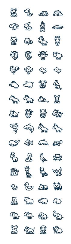 Animal icons on Behance