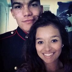 My daughter and her high school  Sweetheart/Marine