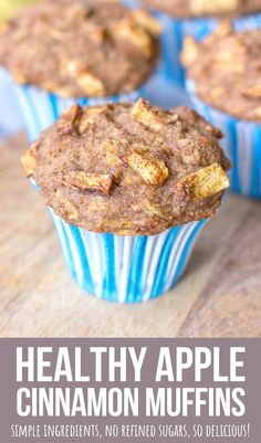 These healthy Apple Cinnamon Muffins are moist and perfectly tender, filled with fresh apples and beautiful Fall spices. + They are made with simple but WHOLESOME ingredients, without refined sugars. Perfect afternoon treat that goes so well with cup of coffee or tea. --------- #apple #applemuffins #cinnamon #muffins #muffinrecipe #recipe #healthy #healthymuffin #healthybreakfast #breakfast #snack #healthysnack #luncbox Healthy Apple Cinnamon Muffins, Healthy Muffins, Cinnamon Apples, Best Breakfast Recipes, Healthy Breakfast Recipes, Healthy Baking, Baking Recipes, Dessert Recipes, Good Food