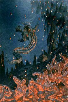 Dante's Divina Comedia Amos Nattini 1923