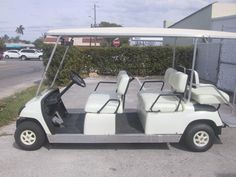We have a beautiful 6 passenger White Golf Cart. 2006 YAMAHA Fuel: gas. 4 people face forward and 2 backward. Only $5,995 FOB our office. Brand New Engine and brand new clutch. Car is in excellent condition