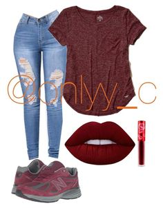 """""""Untitled #88"""" by onlyyc on Polyvore featuring New Balance, Hollister Co. and Lime Crime"""