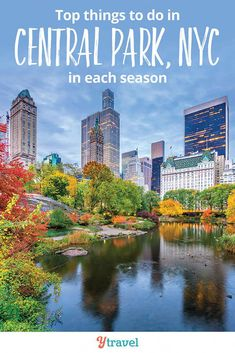 Best Things to Do in Central Park NYC in each season. Central Park is an oasis for New Yorkers, and this park is an amazing place to escape the concrete jungle that is New York City. Click inside for New York travel tips from a local. Best Places To Travel, Cool Places To Visit, Places To Go, Travel Usa, Travel Tips, Travel Destinations, Travel Info, Travel Guides, Travel Rewards