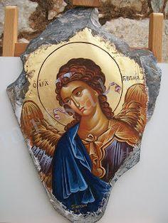 Byzantine Icons, Byzantine Art, Religious Icons, Religious Art, Small Icons, Russian Icons, Religious Paintings, Hand Painted Rocks, Foto Art
