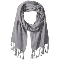 Calvin Klein Women's solid Woven Scarf ($31) ❤ liked on Polyvore featuring accessories, scarves, woven scarves, gray scarves, braided scarves, grey scarves and gray shawl