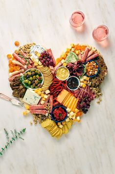 Cheesy, Sweet, or Fresh. Which Valentine's Day charcuterie board is right for you? Feeding A Crowd, Charcuterie Board, Animal Party, Appetizers For Party, Food Art, Food Food, Diy Gifts, Healthy Snacks, Create Your Own