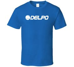 Get this Royal Blue Delpo Del Potro Argentina Tennis Player Fan T Shirt today which is available on a Cotton shirt. The shirt makes a perfect gift for all ages groups Look T Shirt, Oreo Cookies, S Man, Flat Rate, Hoodies, Tank Tops, Logos, Athletes, Cotton