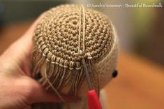 Knitted Dolls Crochet Dolls Crochet Crafts Knitted Hats Knit Crochet Sombrero A Crochet Amigurumi Tutorial Crochet Doll Pattern Crochet Hair Styles Crochet Amigurumi Free Patterns, Crochet Doll Pattern, Sombrero A Crochet, Handmade Soft Toys, Crochet Dragon, Doll Hair, Knitted Dolls, Crochet Hair Styles, Amigurumi Doll