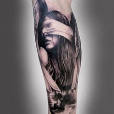 Bound girl tattoo