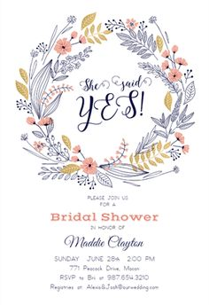 65 Best Bridal Shower Invitation Templates Images Free Invitation