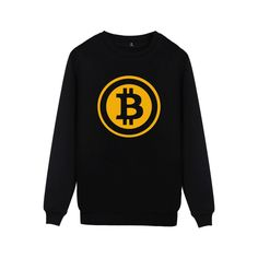 Digital currency Bitcoin Logo Mens Sweatshirt Pullover Hoodie Prevailing bitcoin logo New Arrived Funny Capless Clothes 4XL #Affiliate