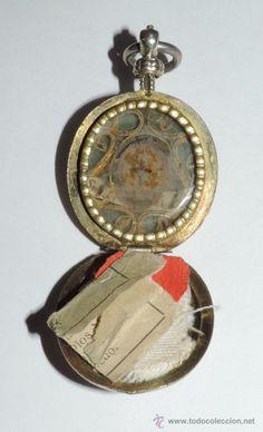 Antigüedades: ANTIGUO RELICARIO DE LA SIERVA DE DIOS MARIA DE JESUS, CARMELITA DESCALZA DE TOLEDO, REALIZADO EN PL - Foto 4 - 53333845