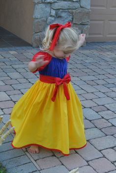 Snow White dress SALE by princessduke on Etsy, $48.00