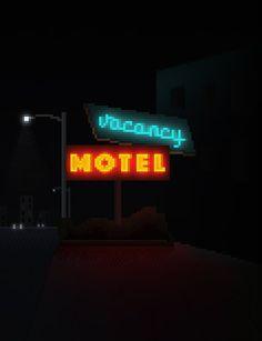 [OC] V A C A N C Y / HOTEL / NEONS : PixelArt