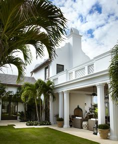Florida Cape Dutch - mediterranean - exterior - miami - David Neff, Architect