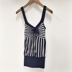 Ya Ya | striped tank Gorgeous striped tank top. Elastic waist band. Now accent. Size XS. No trades. Has small stain at bottom, shown in picture. Ya ya Tops Tank Tops