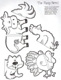 The funny farm puzzle match file folder game page 2 Folder Games For Toddlers, File Folder Activities, File Folder Games, File Folders, Library Activities, Animal Activities, Preschool Activities, Farm Animal Crafts, Farm Animals