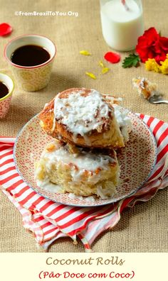 Coconut Rolls (Pão Doce com Coco) by From Brazil To You.