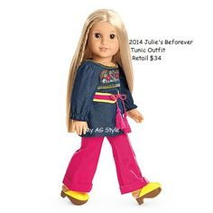 "American Girl JULIE MINI DOLL BEFOREVER 6.5/"" BOOK Blonde Hippie Julie/'s NEW"