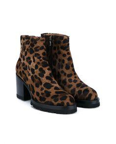 DRIES VAN NOTEN Leopard Print Pony Skin Boots. #driesvannoten #shoes #boots