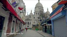 As Ruas de Montmartre em Paris