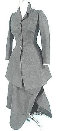 c. 1906 RARE DATED October 16, 1906 Wool Side Saddle Habit with Provenance on Original Label for Mrs. Winslow Clark  Antique Dress - Item for Sale