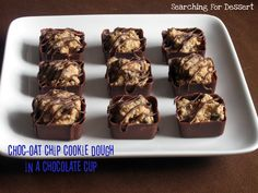 Choc-Oat Chip Cookie Dough in a Chocolate Cup...with Agave Nectar
