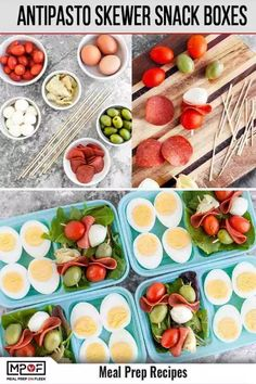 Antipasto Skewer Snack Boxes - Meal Prep on Fleek™ This awesome Keto Antipasto Skewer Snack Boxes recipe is packed with flavor and a breeze to make — perfect for when you're on-the-go! Clean Eating Recipes, Lunch Recipes, Healthy Dinner Recipes, Healthy Snacks, Keto Recipes, Healthy Eats, Easy Recipes, Lunch Meal Prep, Healthy Meal Prep