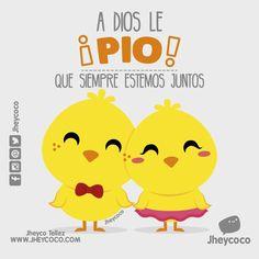 A Dios le pio... #jheycoco #humor #cute #ilustracion #kawai #tierno #kawaii #amor #pulsera #humorgrafico #descripciongrafica #diseñocolombiano #madecolombia #funny #funnyilustration #literal #literalidad #instagram #frases #pollito #pollitos #pio #pollo