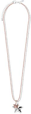 Joma Facetted Star Pendant Necklace, Silver/Rose Gold