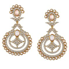 These vermeil chandler with cz and mother of pearl are sure to be a show stopper! 14k Earrings, Drop Earrings, Wedding Jewelry, Gold Jewelry, Chandelier Earrings, Gold Chandelier, 14 Karat Gold, Women Wear, Pearls
