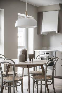 my scandinavian home: A Small Yet Soothing Swedish Apartment In Grey-Beige Shades Warm Grey Walls, Swedish House, Hans Wegner, Design Studio, Design Design, Grey And Beige, Nordic Design, Scandinavian Home, Design Furniture